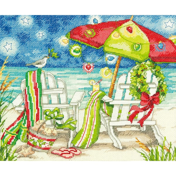 Shop Christmas Beach Chairs Counted Cross Stitch Kit