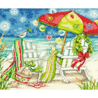 Christmas Beach Chairs Counted Cross Stitch Kit