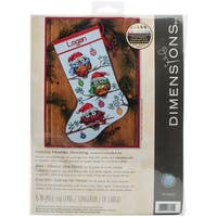 Holiday Hooties Stocking Counted Cross Stitch Kit