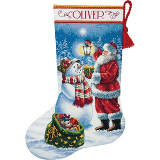 Gold Collection Holiday Glow Stocking Counted Cross Stitch K