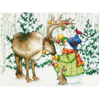 Ornamental Reindeer Counted Cross Stitch Kit