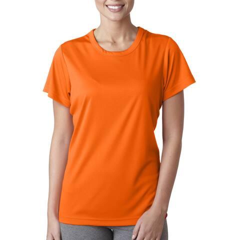 Cool and Dry Women's Sport Performance Interlock Bright Orange Shirt