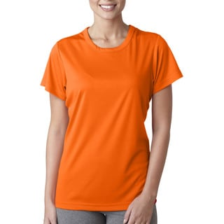 Cool and Dry Women's Sport Performance Interlock Bright Orange Shirt