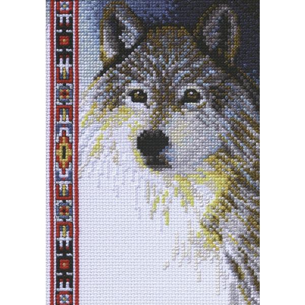 """Janlynn Wildlife Wolf Mini Counted Cross Stitch Kit (5""""X7..."""