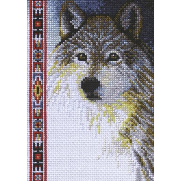 Wildlife Wolf Mini Counted Cross Stitch Kit