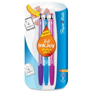 Paper Mate 2-in-1 InkJoy Stylus Pen - Assorted (3/Pack)
