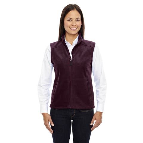 Journey Women's Burgundy Polyester Sleeveless Fleece Vest