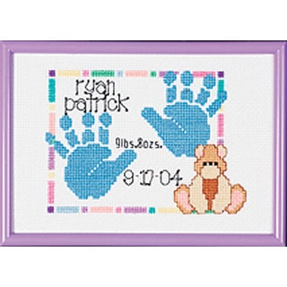 Special Moments Baby Handprints Mini Counted Cross Stitch Ki