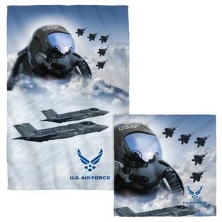 Air Force/Pilot Face/Hand Towel Combo