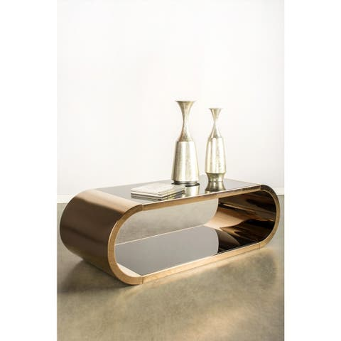 Statements by J Pia Chrome Coffee table, 18 Inch Tall