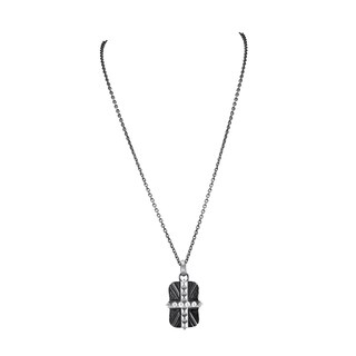 Stephen Webster Men's Sterling Silver Union Jack Dog Tag Necklace