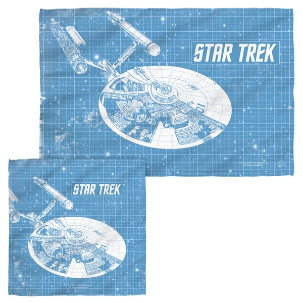 STAR TREK/ENTERPRISE BLUEPRINT Face/Hand Towel Combo