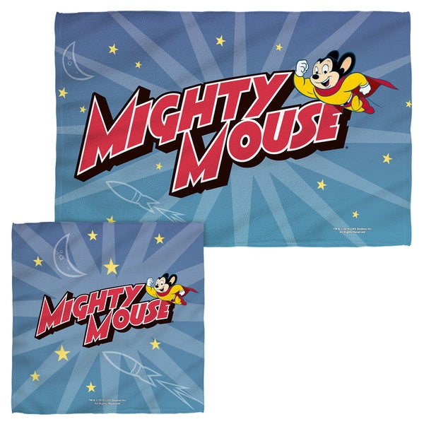 MIGHTY MOUSE/SPACE HERO Face/Hand Towel Combo