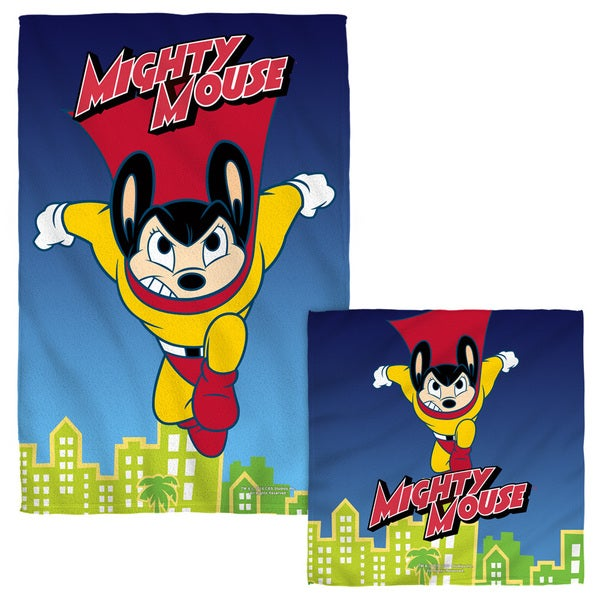 MIGHTY MOUSE/CITY WATCH Face/Hand Towel Combo