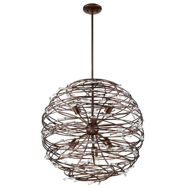 Rogue Decor Offshoot 6-light Crystal Pendant