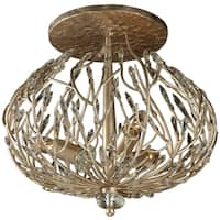 Varaluz Bask 3-Light Semi-Flush Ceiling Light