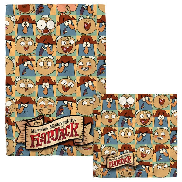 FLAPJACK/AND CAPTAIN Face/Hand Towel Combo