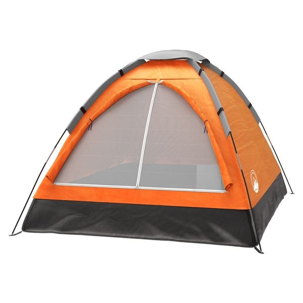 2 Person Tent Dome Tents For Camping With Carry Bag By Wakeman Outdoors Overstock 12272382 77 X 57 X 40 Yellow