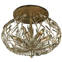 Varaluz Bask 6-Light Semi-Flush Crystal Ceiling Light