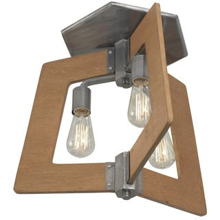 Varaluz Lofty 3-Light Wheat Semi-Flush Ceiling Light