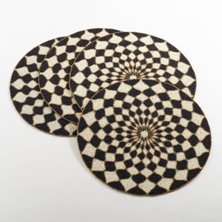 Belagavi Collection Beaded Design Placemat (Set of 4)