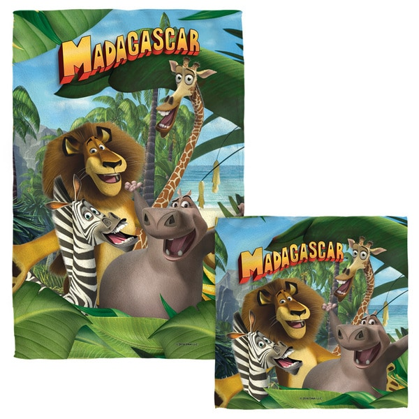 MADAGASCAR/JUNGLE TIME Face/Hand Towel Combo