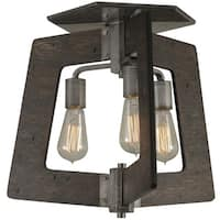 Varaluz Lofty 3-Light Faux Zebrawood Semi-Flush Ceiling Light