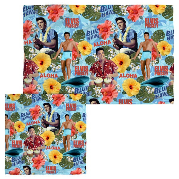 ELVIS/BLUE HAWAII Face/Hand Towel Combo