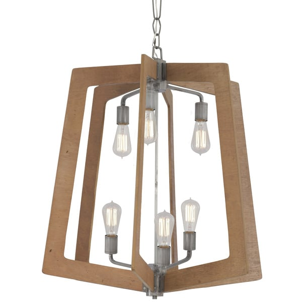 Varaluz Lofty 6-Light Foyer Chandelier