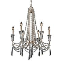Varaluz Barcelona 6-Light Crystal Chandelier - Silver
