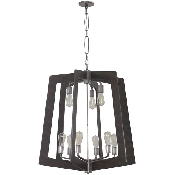 Varaluz Lofty 9-Light Faux Zebrawood Chandelier