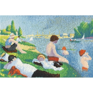 Seurat Bathers At Asinieres Counted Cross Stitch Kit