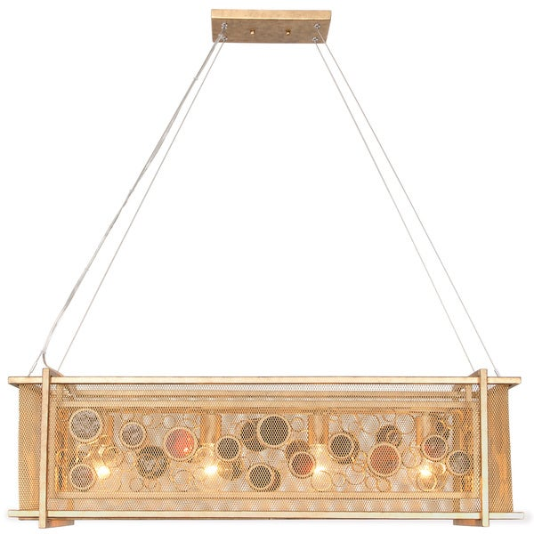 Varaluz Fascination 4-Light Kolorado Linear Pendant - Gold