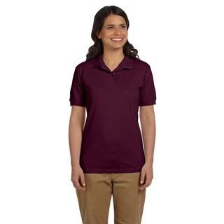 Dryblend Women's Pique Sport Maroon Shirt