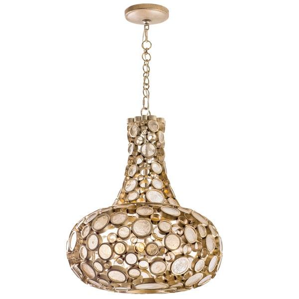 Varaluz Fascination 3-Light Zen Gold Carafe Pendant