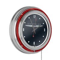 Chrysler Chrome Double Rung Neon Clock