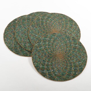 Belagavi Collection Beaded Design Placemats (Set of 4)