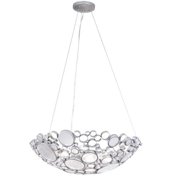 Varaluz Fascination 4-Light Bowl Pendant - Silver