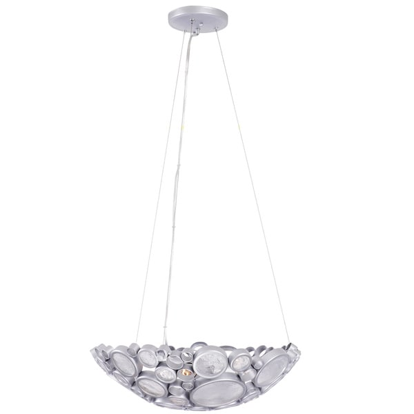 Varaluz Fascination 3-Light Bowl Pendant - Silver