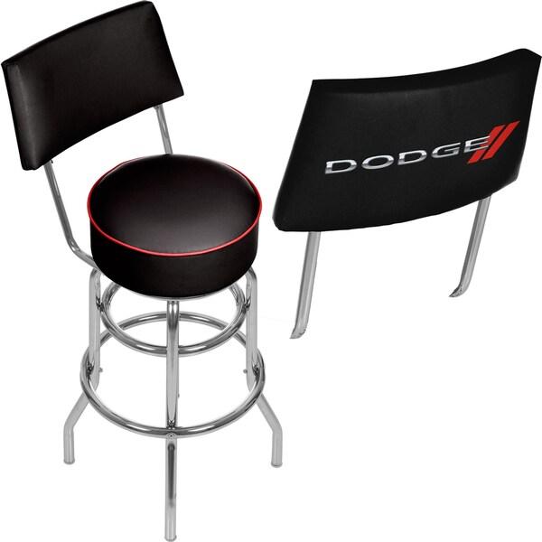 Dodge Bar Swivel Bar Stool with Back