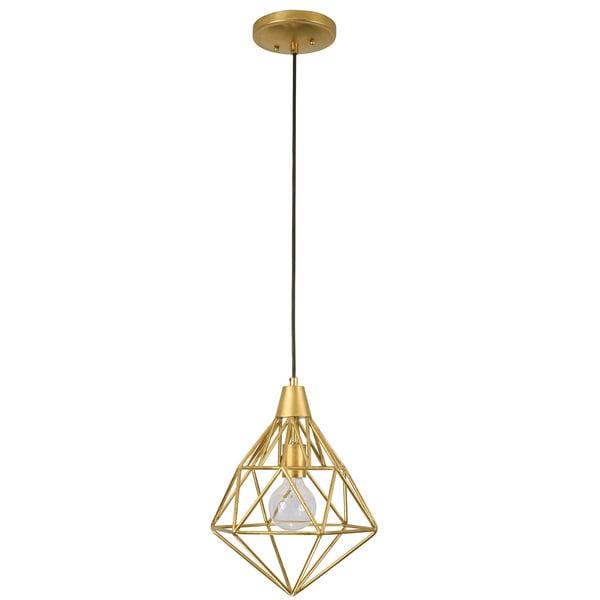 Varaluz Facet 1-Light Gold Leaf Mini Pendant
