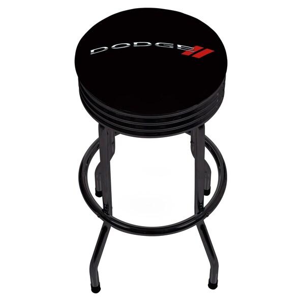 Dodge Single Ring Ribbed Stool - Black