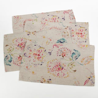 Primavera Collection Printed Floral Design Placemat (Set of 4)