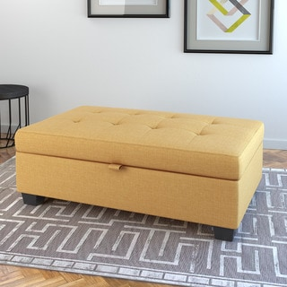 CorLiving Antonio Fabric Upholstered Storage Ottoman