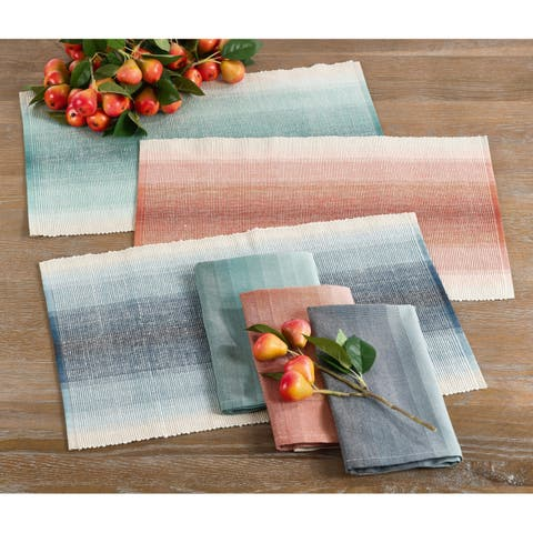 The Canaletto Collection Ombre Ribbed Design Placemat (Set of 4)