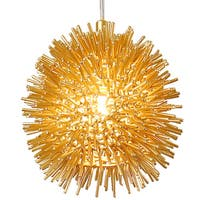 Varaluz Urchin 1-Light Uber Mini Pendant - Gold