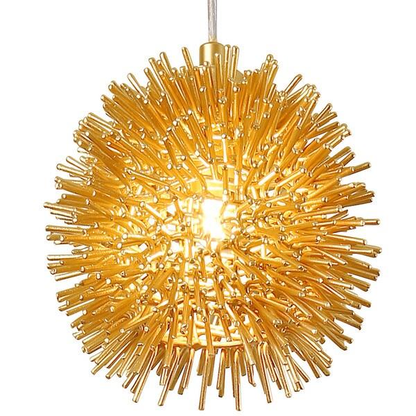 Varaluz Urchin 1-Light Uber Mini Pendant - Gold