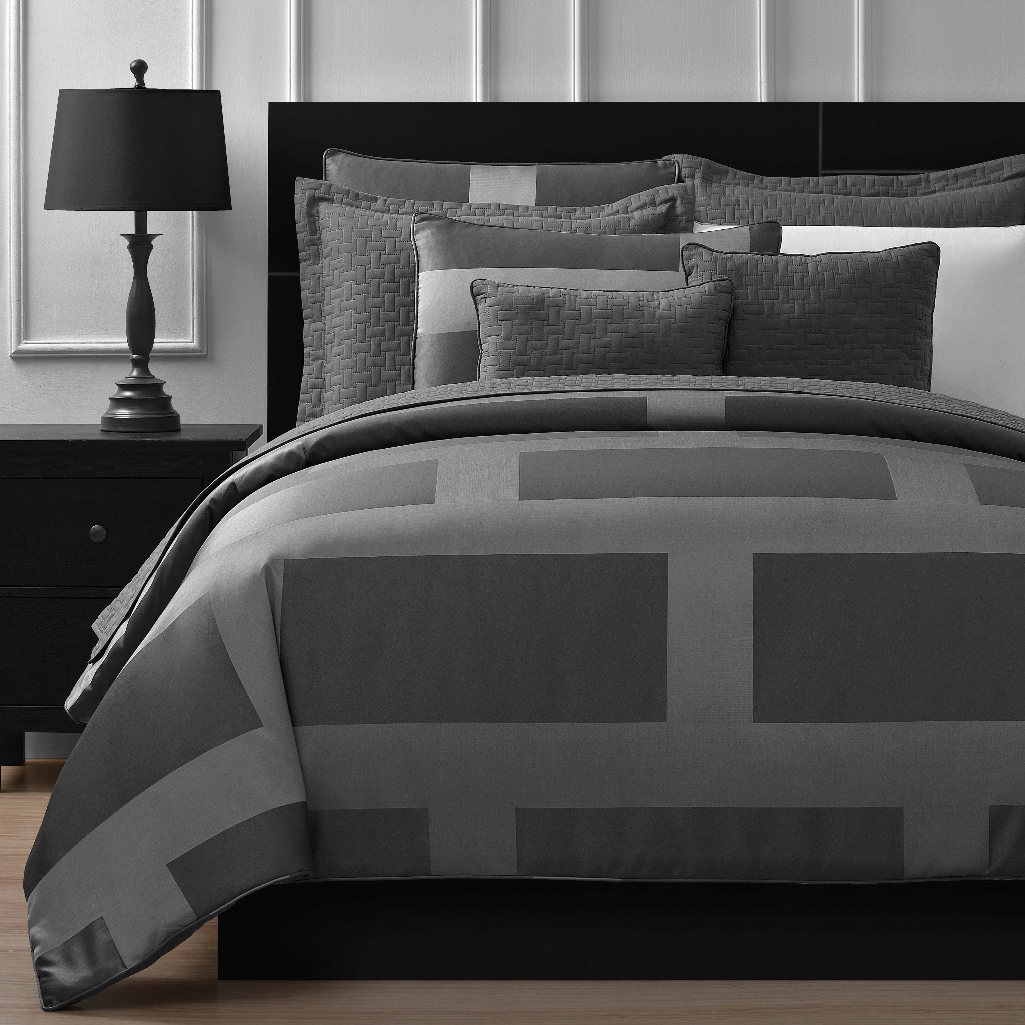 Comfy Bedding Frame Jacquard 5-piece Comforter Set (As Is...