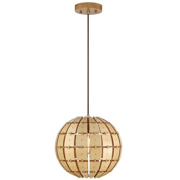 Varaluz Wooda Coulda Shoulda 1-Light Small Pendant - Gold