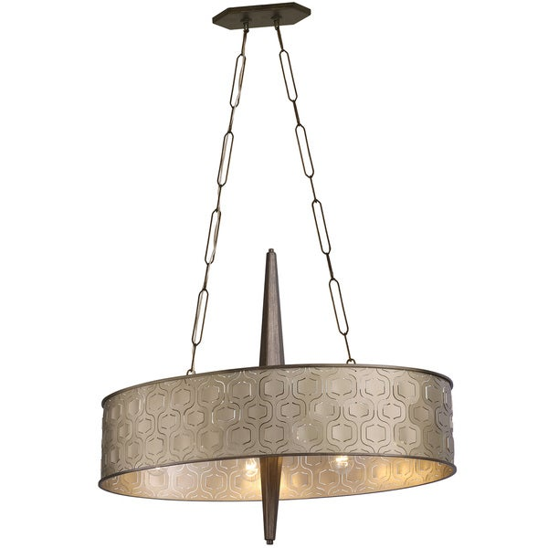 Varaluz Iconic 6-Light Linear Pendant - Silver